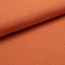 "Jacquard-Jersey Bio-Baumwolle ""Check Point / Mini Check"" (beere/orange) von KREANDO: 18975"