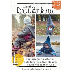 """Schnittmuster Kinder Overall """"Draussenkind"""" Gr. 56-134 von Lotte & Ludwig"""
