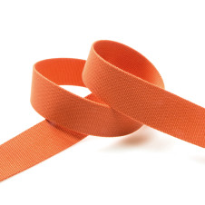 "Gurtband Viskose ""uni"" 30 mm - am Meter (orange) von KREANDO: 17382.30"