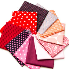 "Buntes Stoffpaket - Baumwolle ""1001 Nacht"" (rot/rosa/pink): 18286"