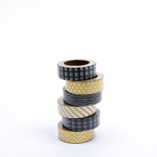 "Masking Tape ""Said""  im 6er-Set (gold-schwarz): 18130"