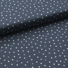 "Baumwolle ""Small coloured dots on dark blue"" (dunkelblau) von KOKKA/Japan: 17304"
